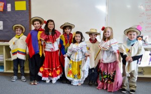 2013/2014 Spanish Enrichment class in traditional clothing